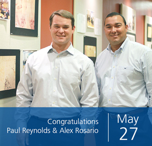 Congratulations Paul Reynolds & Alex Rosario