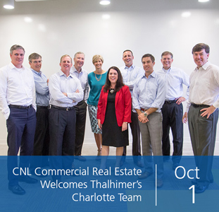 CNL Commercial Real Estate Welcomes Thalhimer's Charlotte Team