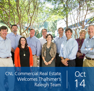 CNL Commercial Real Estate Welcomes Thalhimer's Raleigh Team