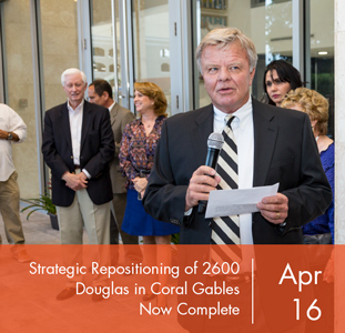 Strategic Repositioning of 2600 Douglas in Coral Gables Now Complete