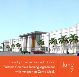 Foundry Commercial and Clarion Partners Complete Leasing Agreement with Amazon at Carrie Meek International Business Park in Miami
