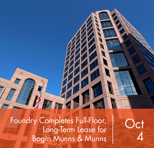 Foundry Commercial Completes Full-Floor, Long-Term Lease for Bogin Munns & Munns at Gateway Center