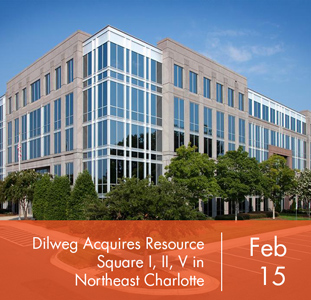 Dilweg Acquires Resource Square I, II, V in Northeast Charlotte