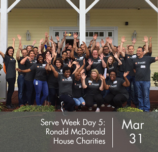 Serve Week Day Five: Ronald McDonalds House Charities