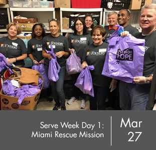Serve Week Day One: Miami Rescue Mission