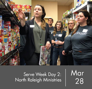 Serve Week Day Two: North Raleigh Ministries