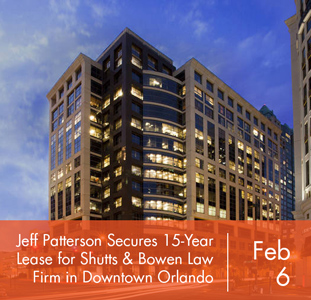 Jeff Patterson at Foundry Commercial Secures 15-Year Lease for Shutts & Bowen Law Firm at Lincoln Plaza in Downtown Orlando