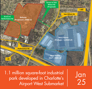 Foundry Commercial to Develop 1.1 Million Square-Foot Industrial Park, in Charlotte's Airport West Submarket