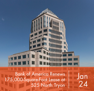 Bank of America Renews 175,000-Square-Foot Lease at 525 North Tryon