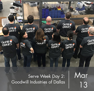 Serve Week Day 2: Goodwill Industries of Dallas