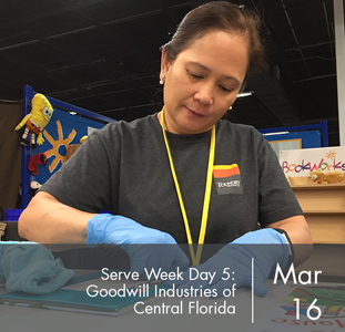 Serve Week Day 5: Goodwill Industries of Central Florida