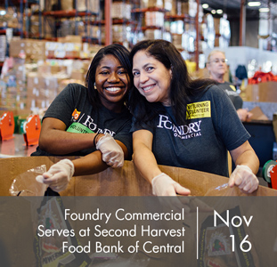 Foundry Commercial Serves at Second Harvest Food Bank of Central Florida
