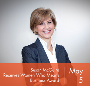 Susan McGuire Receives Women Who Mean Business Award