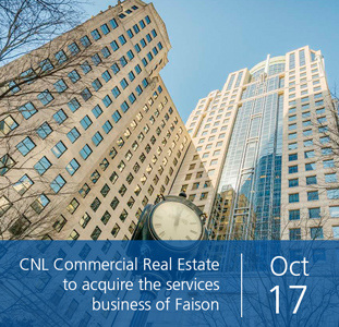 CNL Commercial Real Estate to acquire the services business of Faison
