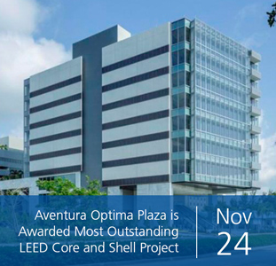 Aventura Optima Plaza is Awarded Most Outstanding LEED Core and Shell Project